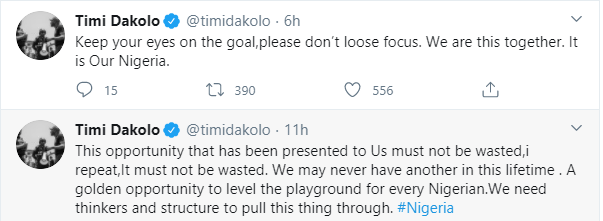 This opportunity must not be wasted, we may never have another opportunity in a lifetime Singer Timi Dakolo lindaikejisblog 1
