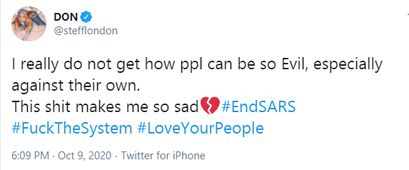 My man is doing a lot more than just tweeting Stefflon Don speaks on Burna Boy's contribution to #EndSARS protest lindaikejisblog 1
