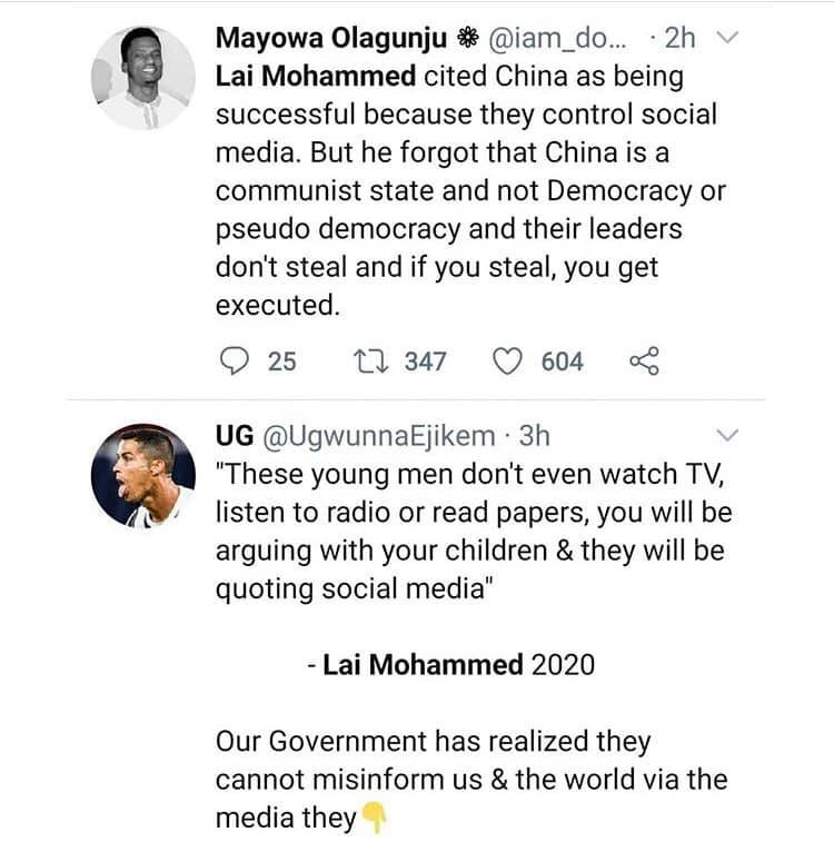Nigerians react to Lai Mohammed's call for regulation of social media lindaikejisblog 4