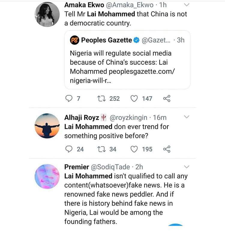 Nigerians react to Lai Mohammed's call for regulation of social media lindaikejisblog 7