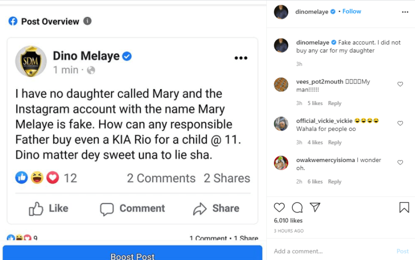 I have no daughter called Mary - Dino Melaye says as he debunks report of buying his daughter a Lamborghini on her 11th birthday lindaikejisblog 1
