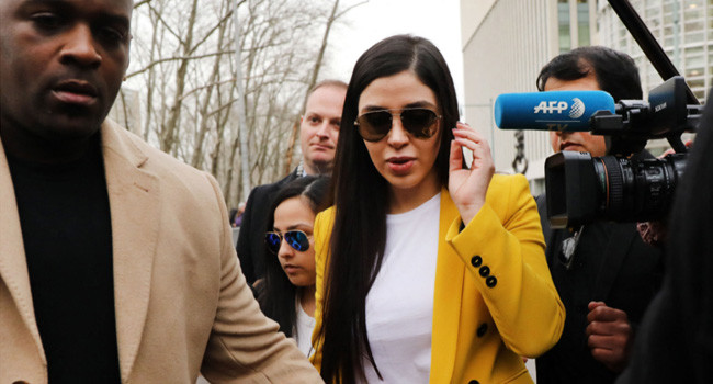 El Chapo's wife pleads guilty to federal drug trafficking charges