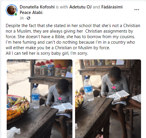 Tribal mark model, Adetutu rants about her daughter being given Christian assignments even though she stated she is neither Christian nor Muslim 1