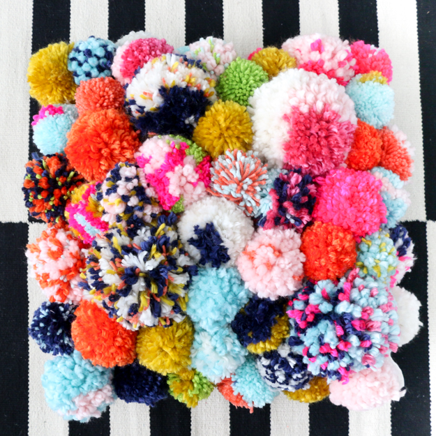 Image result for yarn pompom rainbow