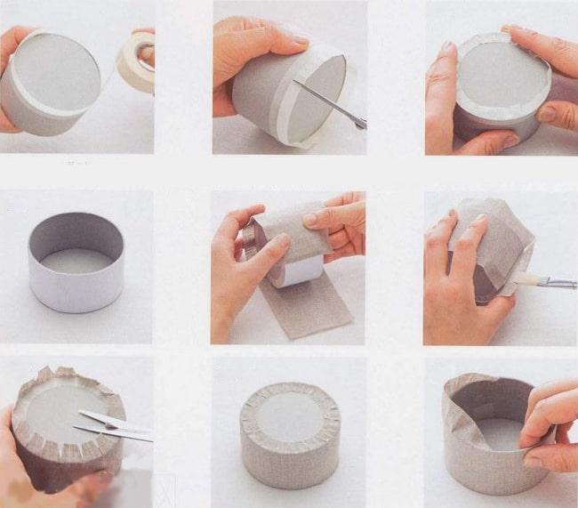 Как упаковать круглую коробку в подарочную бумагу