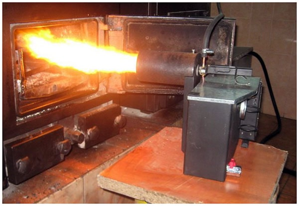 Házi olajégető vas tűzhelyhez