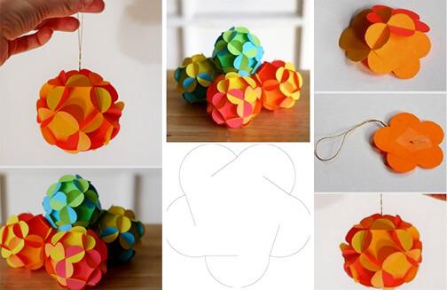 Сделать красивый шар из бумаги