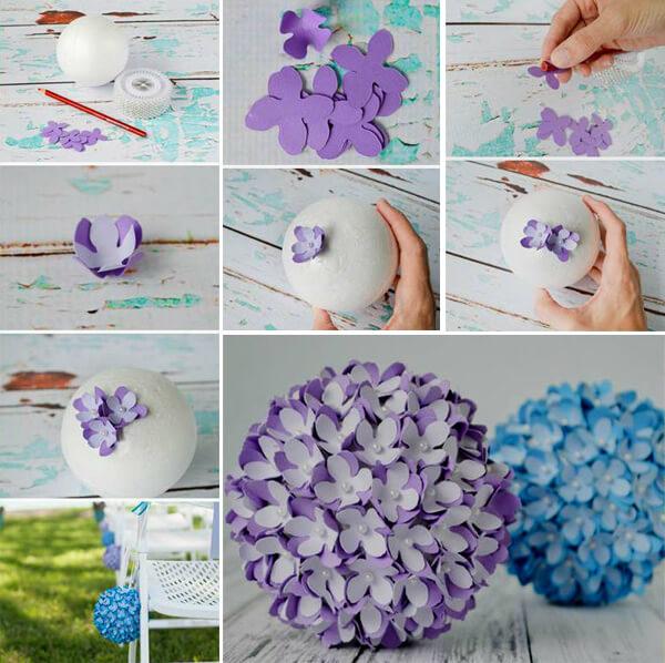 如何制作纸折纸球