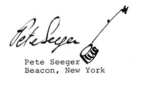Seeger Signature With Banjo