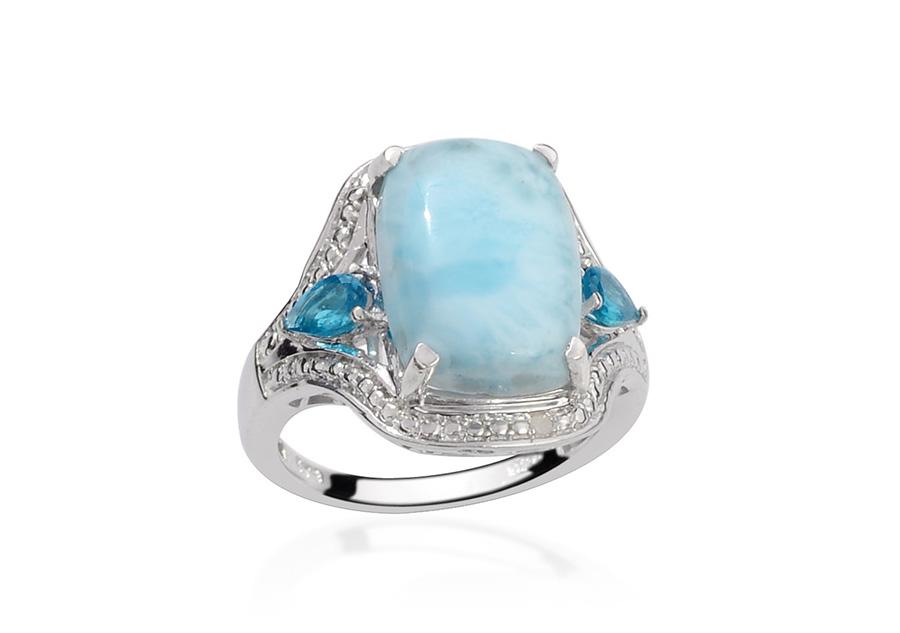 Gemstone Larimar Blue Larimar Jewelry Information LC