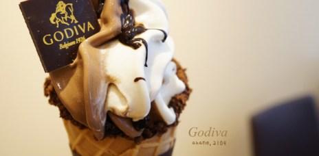 【日本】Godiva ゴディバ(店舖限定)-黑白巧克力霜淇淋