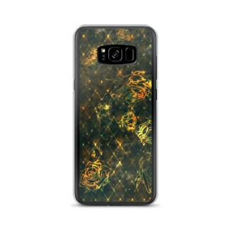 Diamond Rose Samsung Case Turquoise Gold