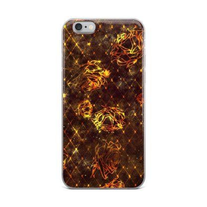 Diamond Rose iPhone Case Maroon-Gold
