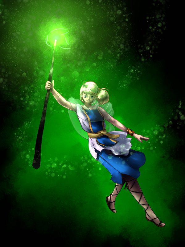 Divination Naomi - Anime Illustration