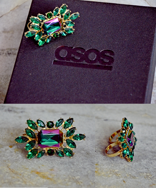 ASOS Double Finger Vine Gem Ring