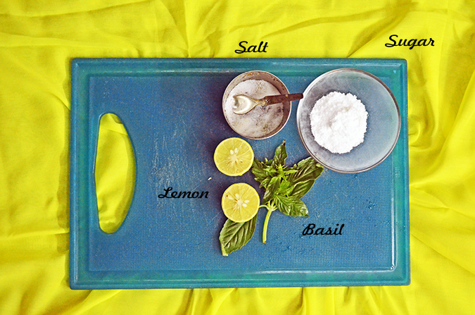 Basil Lemonade - Ingredients