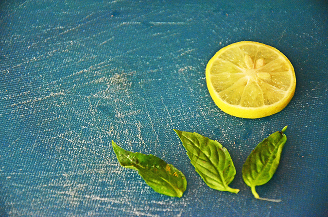 Basil Lemonade - Garnish