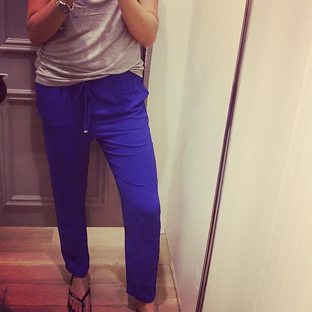 Cobalt Blue Pants Forever21 Saket