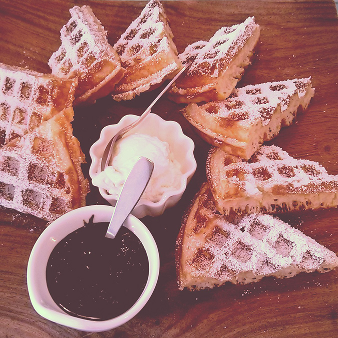 { Au revoir August } - Waffles at Rose Cafe