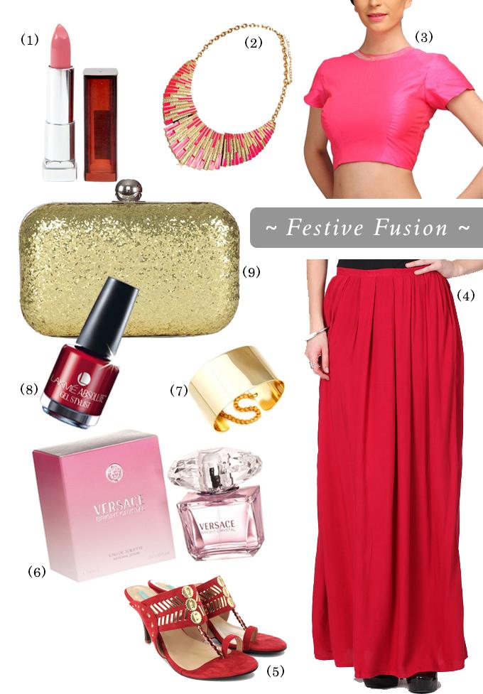 { Festive Fusion }via Flipkart | www.akanksharedhu.com |