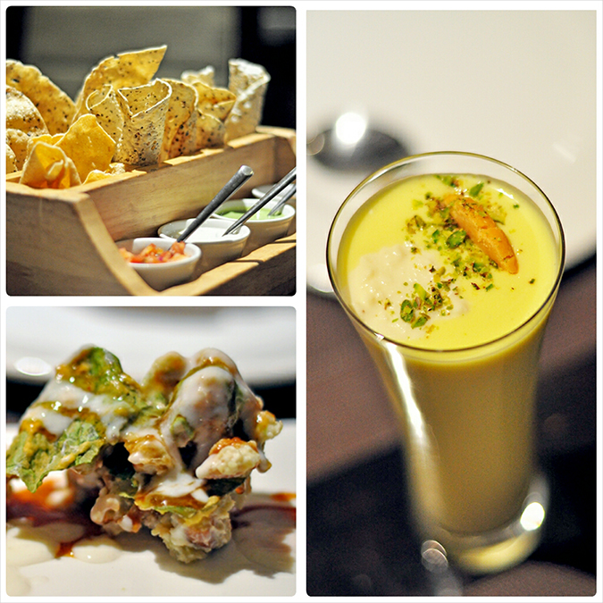 { Made in Punjab } :: Restaurant by Zorawar Kalra | www.akanksharedhu | Papad, Lassi, Chat