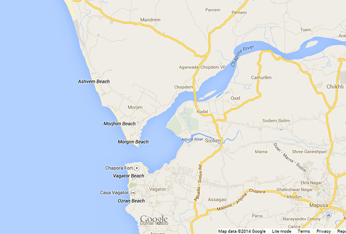 Morjim | Goa | www.akanksharedhu.com | Map