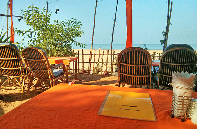Agonda Beach | Goa | www.akanksharedhu.com | menu & view