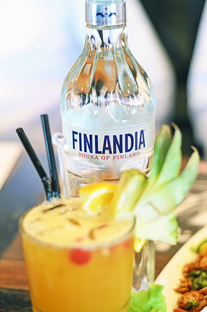 Vodka Escapade | Finlandia | www.akanksharedhu.com | bottle with drink