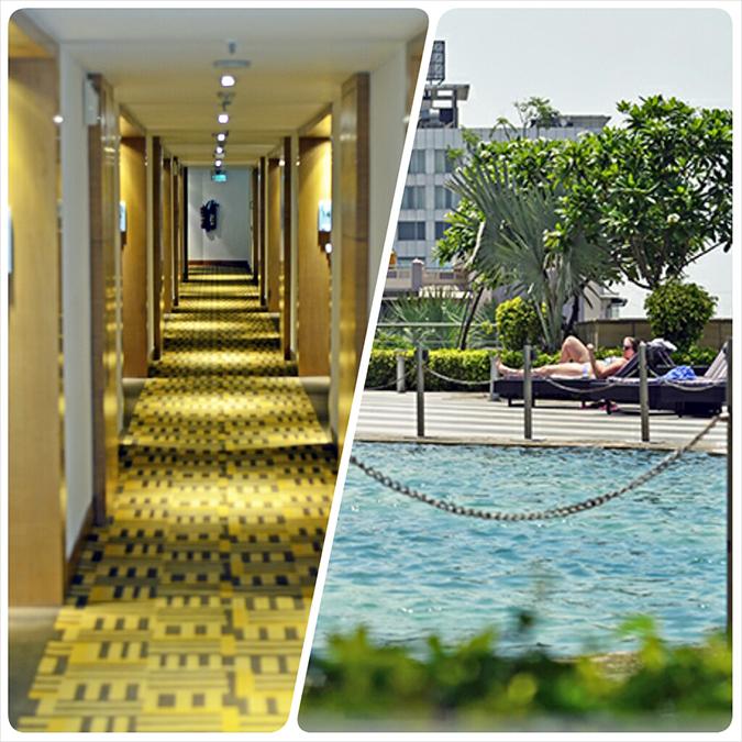 Weekend Getaway   Courtyard Marriott Gurgaon   room lobby & pool
