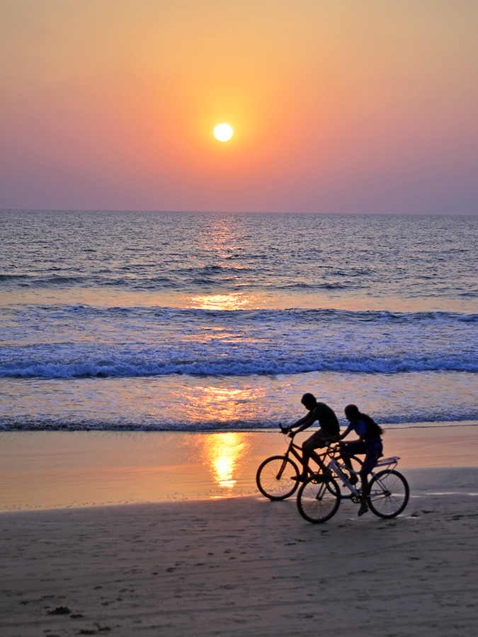 Agonda Beach | Goa | www.akanksharedhu.com | cyclists on beach