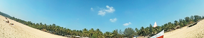 Agonda Beach | Goa | www.akanksharedhu.com | pano