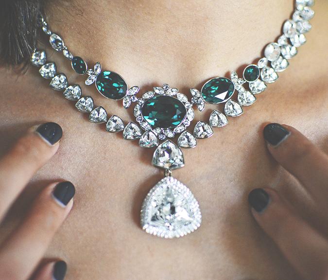 Swarovski | #StyleYourWayToParis | www.akanksharedhu.com | necklace nails