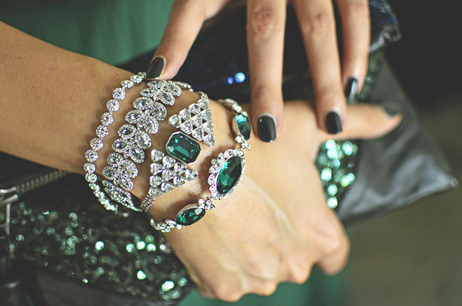 Swarovski | #StyleYourWayToParis | www.akanksharedhu.com | bracelets closeup