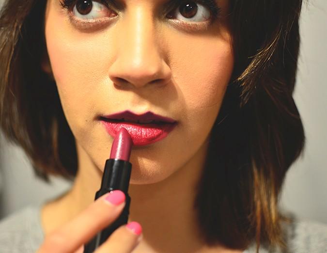 Inglot Matte Lipsticks | www.akanksharedhu.com | maroon on lip