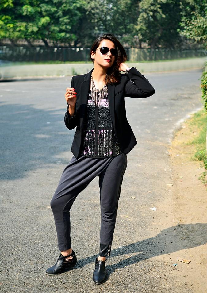 Marquee by Vero Moda | www.akanksharedhu.com | full front jacket on