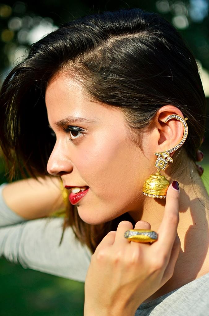 #FutureHeirlooms | LoveGold | Akanksha Redhu | earring face side