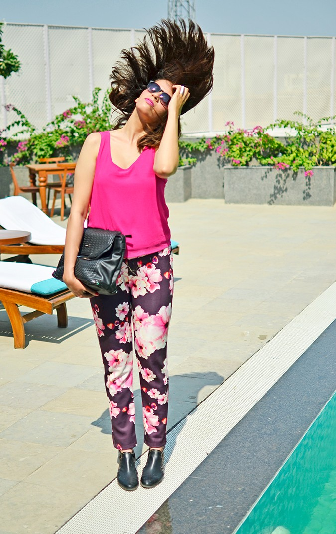Sunny Winter Florals | Akanksha Redhu | flip hair