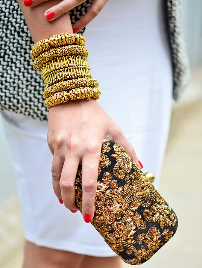 Gold Jewelry | LoveGold | #akanksharedhu | bangles clutch long