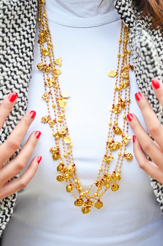 Gold Jewelry | LoveGold | #akanksharedhu | necklace long