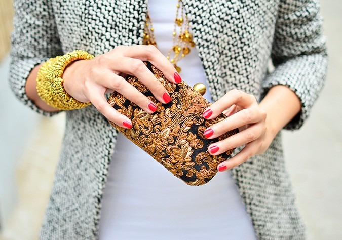 Gold Jewelry | LoveGold | #akanksharedhu | with clutch wide