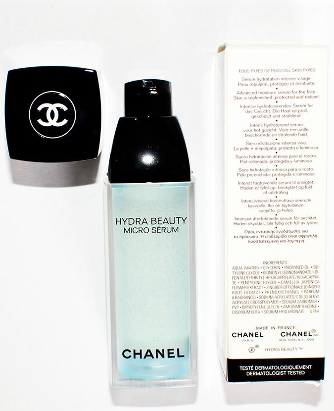 Hydra Beauty Micro Serum   Chanel   Akanksha Redhu   bottle with carton back