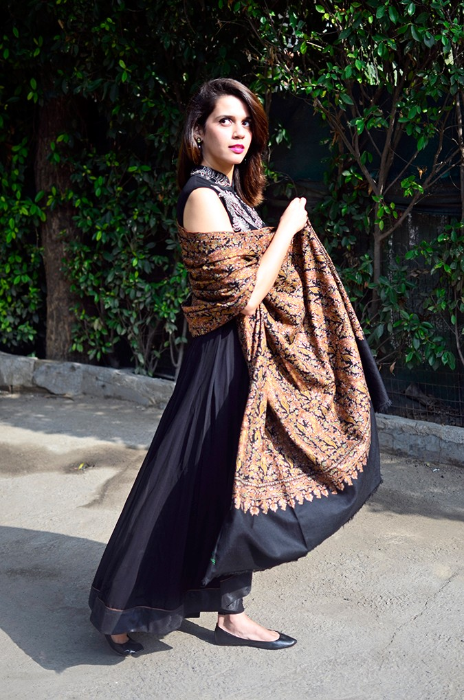 Indianwear | Gaurav Gupta Tribe at Jabong | shawl full side