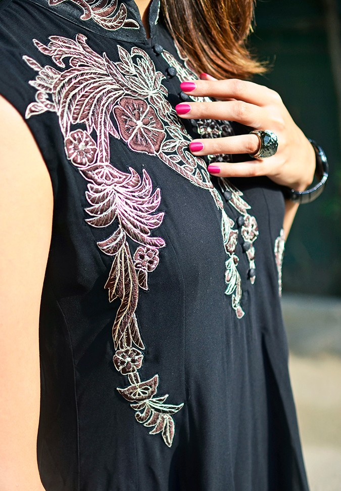 Indianwear | Gaurav Gupta Tribe at Jabong | embroidery detail