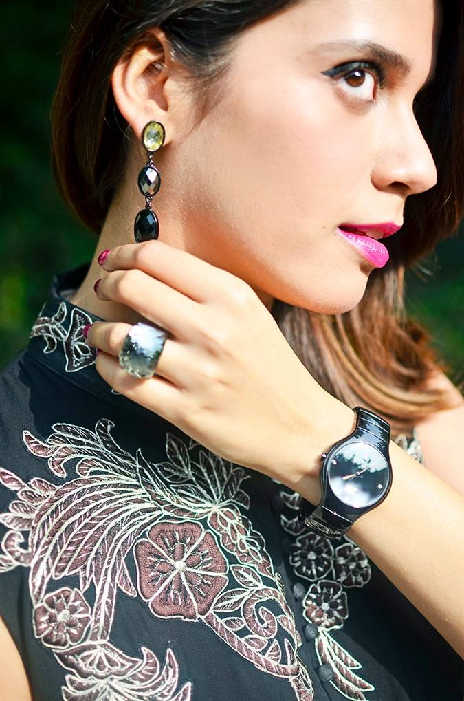 Indianwear | Gaurav Gupta Tribe at Jabong | earring detail