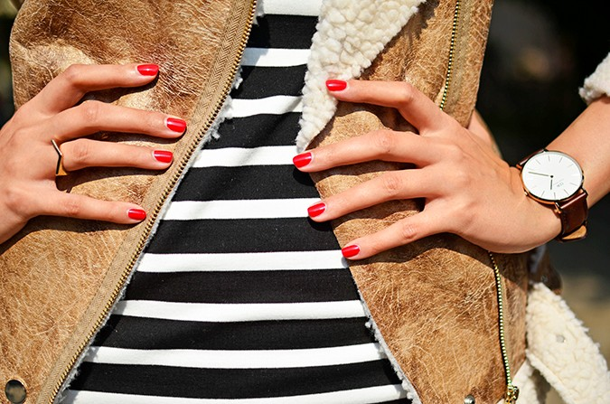 Stripes | Akanksha Redhu | nails detail