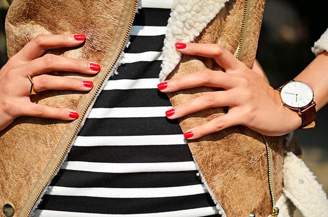Stripes | Akanksha Redhu | nails detail