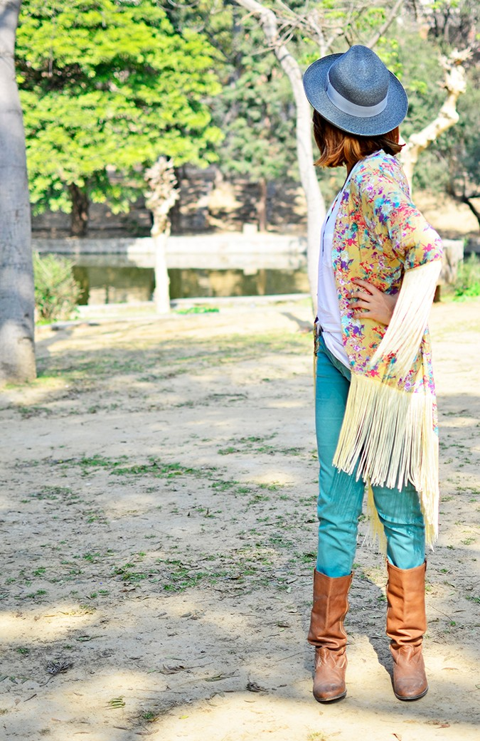 Hippie Kimono | Akanksha Redhu | full front looking back