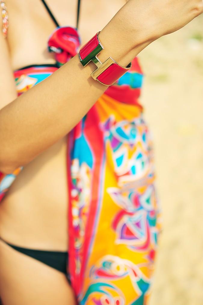 Folklore | Hermes | Akanksha Redhu | bracelet focus scarf blurred