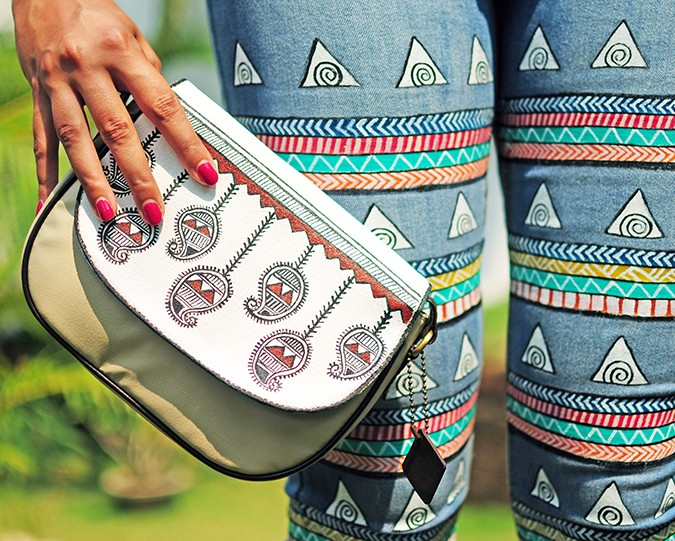 Hand-Painted Goodness | RangRage | Akanksha Redhu | bag jeans