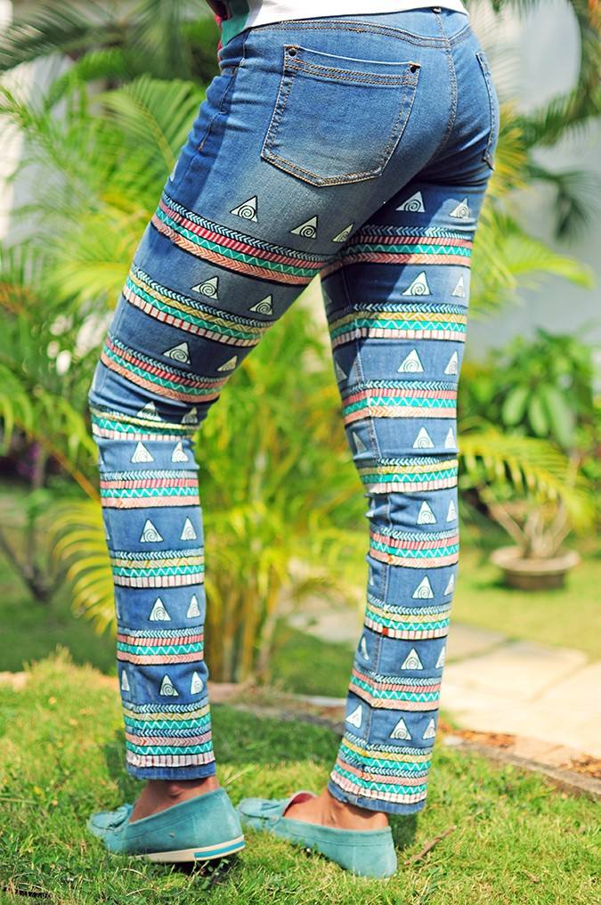 Hand-Painted Goodness | RangRage | Akanksha Redhu | jeans full bottom back